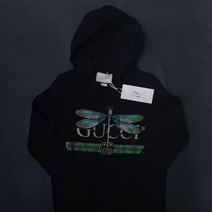 sweatshirt hoodie gucci black unisex